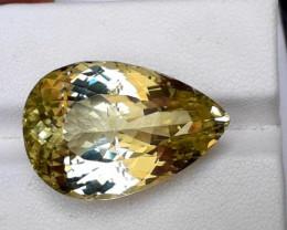 Kunzite, 31.85 Carats Amazing Light Green Yellow Kunzite Gemstone