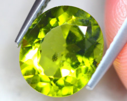 3.49Ct Natural Green Peridot Oval Cut Lot B2318