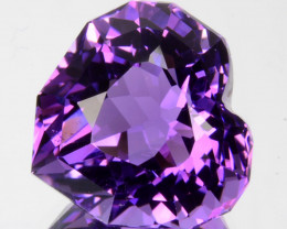 ~CUSTOM CUT~ 8.68 Cts Natural AAA Purple Amethyst Heart Bolivia