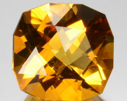 ~CUSTOM CUT~ 6.28 Cts Natural Golden Orange Citrine Fancy Cush Brazil