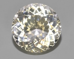 10.80 CTS DAZZLING TOP NATURAL WHITE BERYL PERFECT ROUND CUT~$650.00