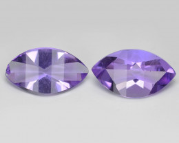 5.04 Cts 2 Pcs Amazing Rare Natural Purple Amethyst Loose Gemstone