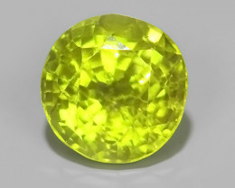 2.25 CTS~GENUINE NATURAL GREEN PERIDOT ROUND BURMA~ECELLENT!!