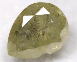 Greenish Grey 0.44Ct Natural Untreated Fancy Diamond BM0239