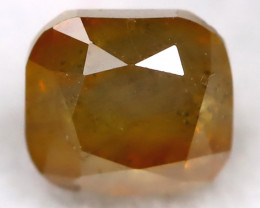 Yellowish Orange Diamond 0.24Ct Natural Untreated Fancy Diamond BM0443