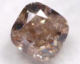 Champagne Pink Diamond 0.22Ct Natural Untreated Fancy Diamond BM0444