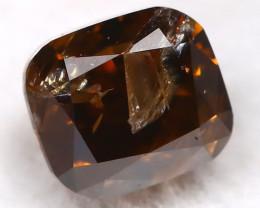 Cognac Diamond 0.27Ct Natural Untreated Fancy Diamond BM0448