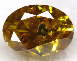 Yellowish Orange Diamond 0.21Ct Natural Untreated Fancy Diamond BM0449