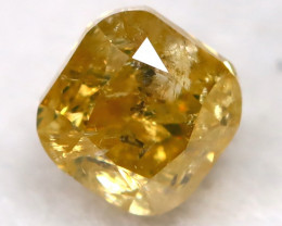 Yellowish Orange Diamond 0.25Ct Natural Untreated Fancy Diamond BM0450