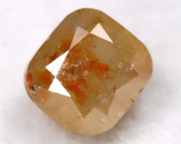Orangy Yellow 0.24Ct Natural Untreated Fancy Diamond BM0272