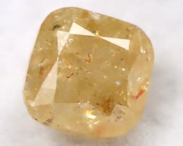 Orangy Yellow 0.18Ct Natural Untreated Fancy Diamond BM0284