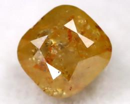 Orangy Yellow 0.23Ct Natural Untreated Fancy Diamond BM0290