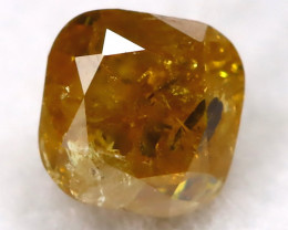 Yellowish Orange 0.19Ct Natural Untreated Fancy Diamond BM0479