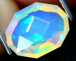 Welo Opal 1.11Ct Master Cut Natural Ethiopian Flash Color Welo Opal B0812