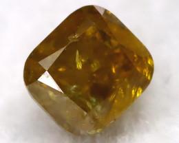 Greenish Orange 0.23Ct Natural Untreated Fancy Diamond BM0491