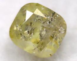 Yellowish Green 0.21Ct Natural Untreated Fancy Diamond BM0493
