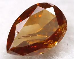 Reddish Orange 0.15Ct Natural Untreated Fancy Diamond BM0494