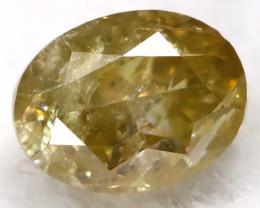 Orangy Green 0.18Ct Natural Untreated Fancy Diamond BM0497