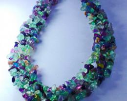 673 CT Natural - Unheated Multi Fluorite Beads