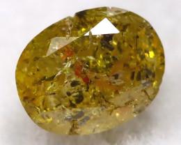Orangy Green 0.17Ct Natural Untreated Fancy Diamond BM0499