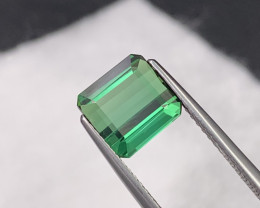 2.54 Cts Beautiful Parrot Green Color Top Quality Natural Tourmaline Brazil