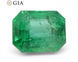 3.47 ct Octagonal/Emerald Cut Emerald GIA Certified
