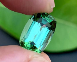 Loupe Clean 8.25 ct Mint Green Natural Tourmaline~Afghanistan