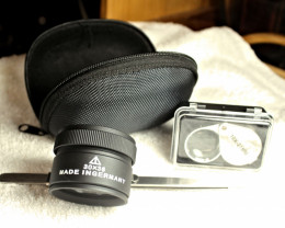 10X Loupe, 30x Magnifier with Case, Tweezers - Nice