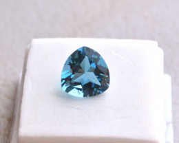 6.34 Carat Trillion Cut London Blue Topaz