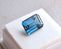 10.12 Carat Octagon Cut London Blue Topaz