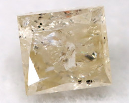 Light Yellow 0.26Ct Natural Untreated Fancy Diamond BM0502