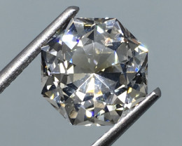 3.77 Carat VVS Topaz Master Cut - Diamond White Color Beyond Beautiful !