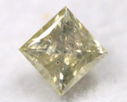 Greenish Grey 0.23Ct Natural Untreated Fancy Diamond BM0504
