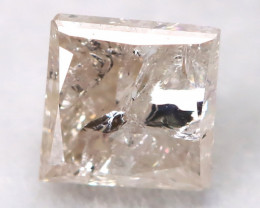 0.27Ct Natural Princess Cut Untreated Fancy Diamond BM0517