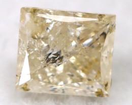 0.23Ct Natural Princess Cut Untreated Fancy Diamond BM0525