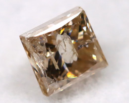 Champagne 0.27Ct Natural Untreated Fancy Diamond BM0528