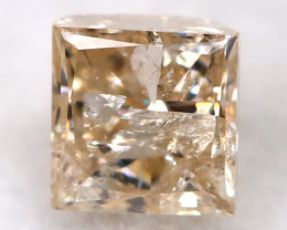 Champagne 0.24Ct Natural Untreated Fancy Diamond BM0533