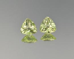 Natural Peridot Matched Pair 1.65 Cts, Pakistan