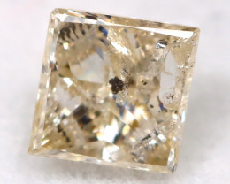 Light Champagne 0.27Ct Natural Untreated Fancy Diamond BM0540