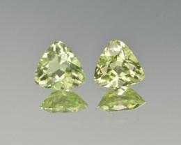 Natural Peridot Matched Pair2.25 Cts, Pakistan