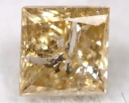 Greyish Orange 0.16Ct Natural Untreated Fancy Diamond BM0541