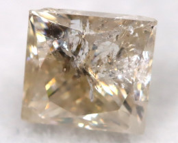 Greyish Champagne 0.26Ct Natural Untreated Fancy Diamond BM0542