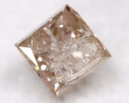 Champagne Pink 0.24Ct Natural Untreated Fancy Diamond BM0545