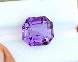 13.40 Ct Natural Purple Internally Flawless Amethyst Gemstone