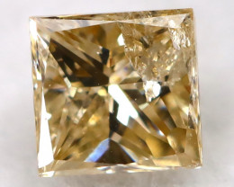 Champagne 0.18Ct Natural Untreated Fancy Diamond BM0549