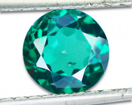 ~GLITTERING~ 2.56 Cts Vivid Green Natural Topaz Round Cut Brazil