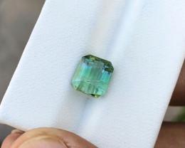 2.85 Ct Natural Bi Color Transparent Tourmaline Gemstone