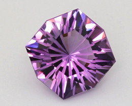 22.9CT~AMETHYST(ROSE DE FRANCE)CUSTOM PRECISION CUT~