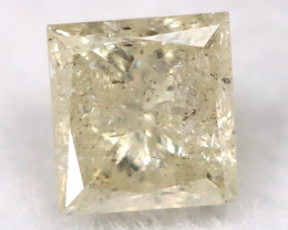 Light Yellow 0.19Ct Natural Untreated Fancy Diamond BM0554