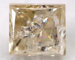 0.25Ct Natural Princess Cut Untreated Fancy Diamond BM0561